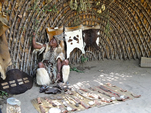 The medicine man or sangoma