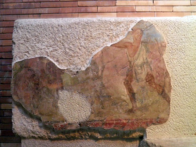 Painting that adorned the balustrade of the podium of the Amphitheatre, National Museum of Roman Art, Augusta Emerita
