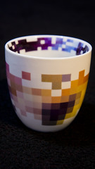 art, purple, cup, yellow, cup, tableware, ceramic, blue, porcelain,