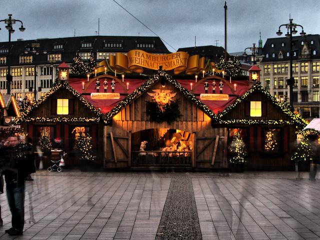 Christmas Market Rathausmarkt Hamburg