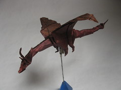 sculpture(0.0), toy(0.0), art(1.0), origami(1.0), wing(1.0), origami paper(1.0), dragon(1.0),