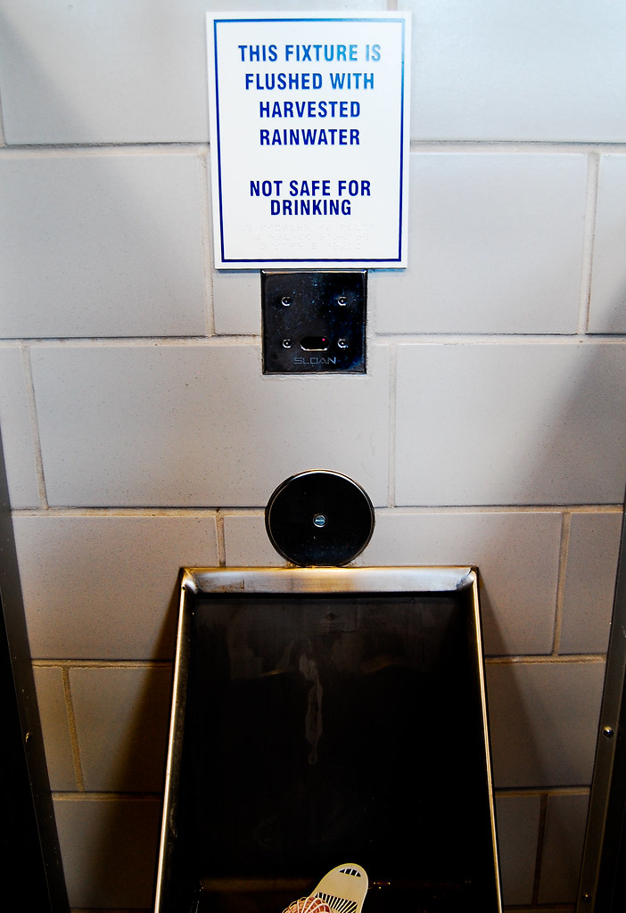 "surprise:  urinal water ""not safe for drinking"""