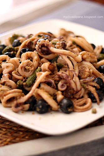 Mollica di pane calamari agli odori cilentani for Piatti ristorante