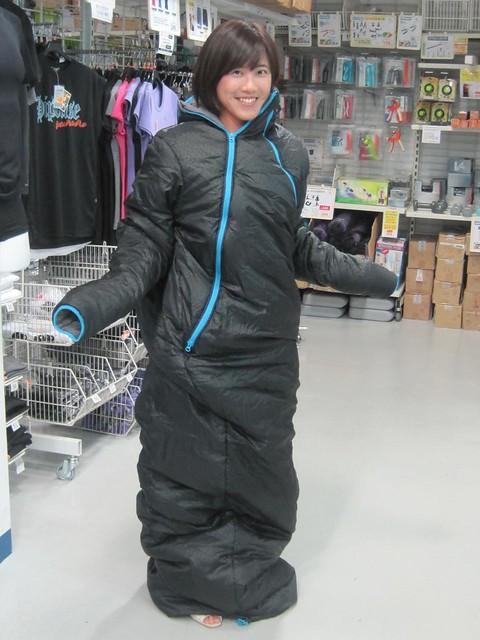 新產品!人型睡袋