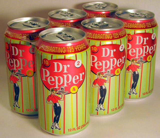 Dr. Pepper 125th Cans: 10-2-4
