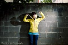 Moriah and her new yellow hoodie