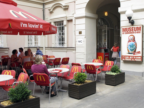 McDonalds meets Museum of Communism, Prague