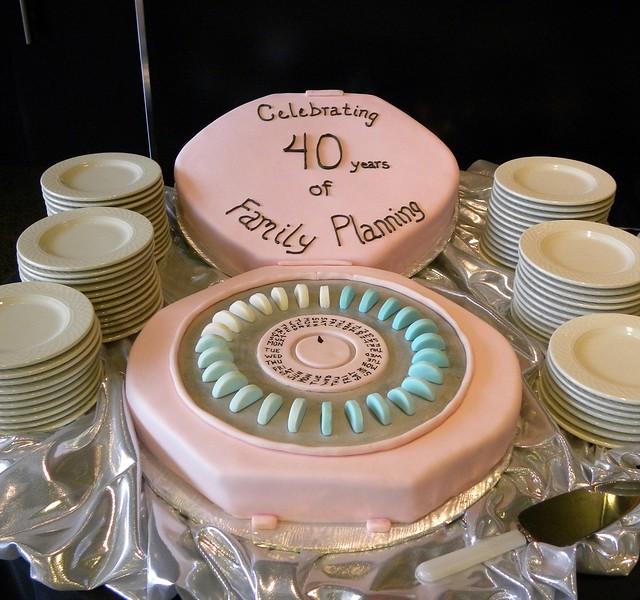 Birth Control Pill Pack Cake