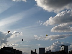 Hot air balloons over Vilnius, Lithuania