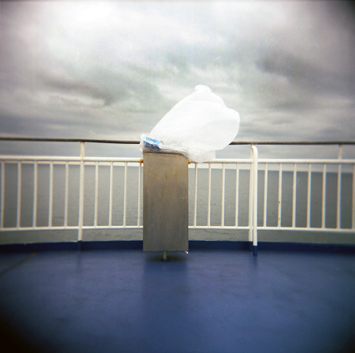 The bin liner, my friend, is blowin' in the wind, Holyhead to Dublin ferry