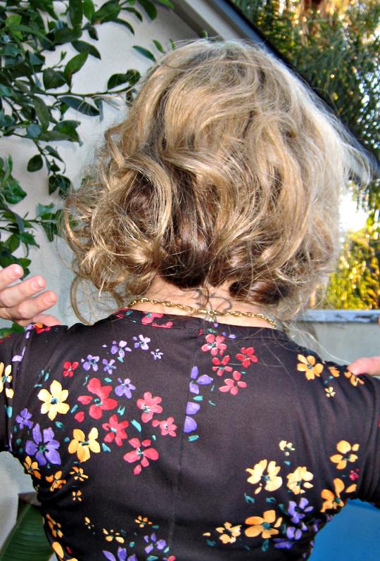 faux bob hair style - back