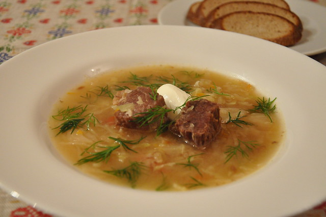 Щи -Russian cabbage soup