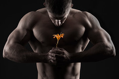 arm, chest, barechestedness, male, man, muscle, bodybuilder, physical fitness, bodybuilding, black,