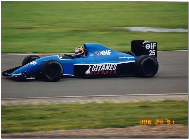 Thierry Boutsen Ligier Lamborghini JS35B F1. 1991 British GP Test Silverstone