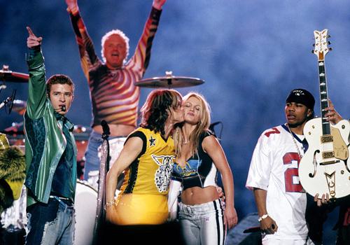 Justin Timberlake, Joey Kramer and Steven Tyler of Aerosmith, Br