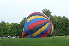 Paris, Sept. 2010:  Balloon at a chateau near Fountainebleau