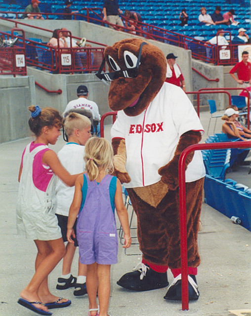 Sarasota - Baseball Mascot at Stadium