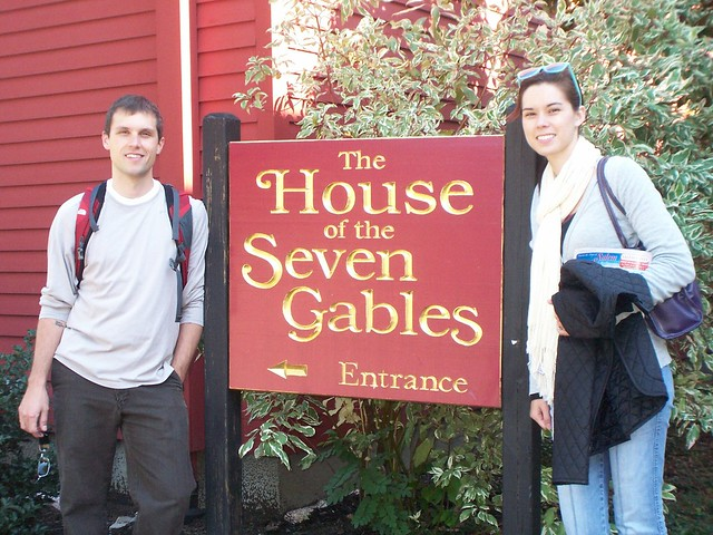 ian and anna at the house of seven gables
