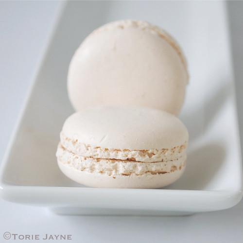 Winter white macarons