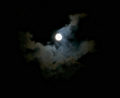 harvest moon (with spooky smokey clouds)