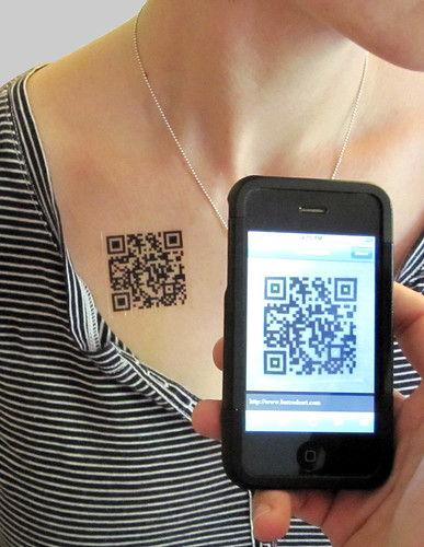 QR Code Temporary Tattoo SCANS!!!