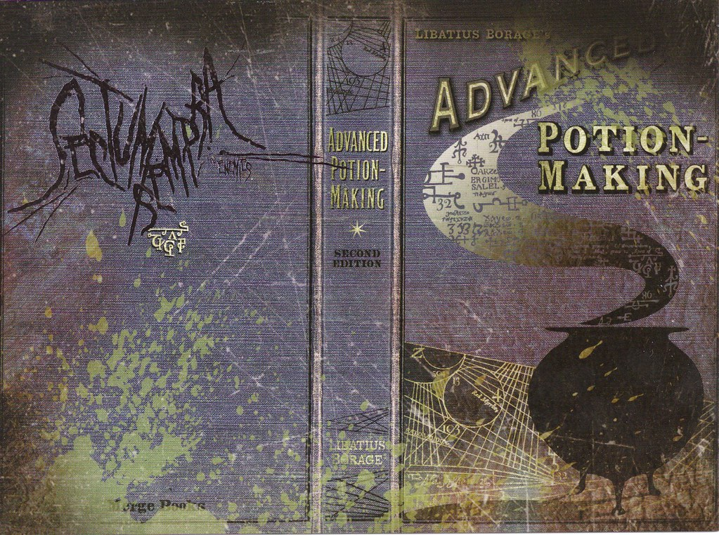 Harry Potter Book Cover Generator : The half blood prince s potion book harry potter a