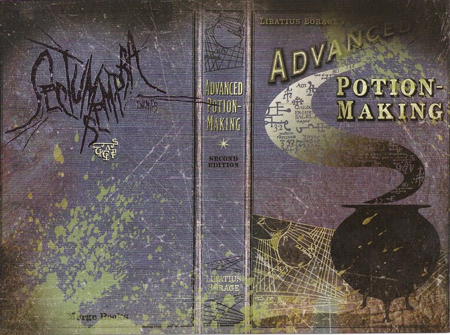 Harry Potter Book Cover Generator ~ The half blood prince s potion book harry potter a