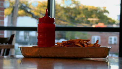 Still Life With Ketchup and Fries at Elevation Burger