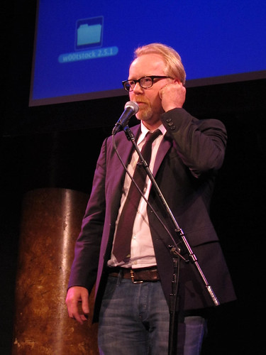 Adam Savage does an impression of his Mythbusters co-star at w00tstock 2.5.1 San Francisco