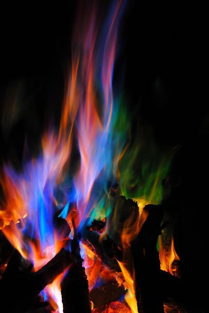 Rainbow Flames Flickr Photo Sharing