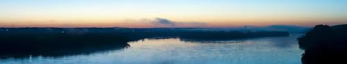 morning water sunrise river mississippi dawn