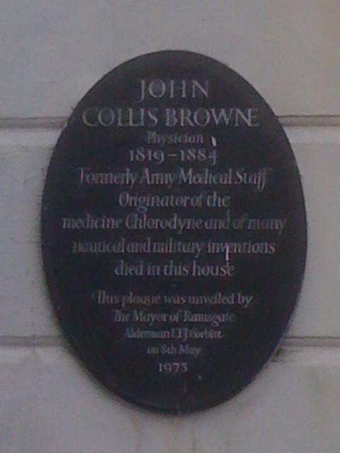 Photo of John Collis Browne black plaque