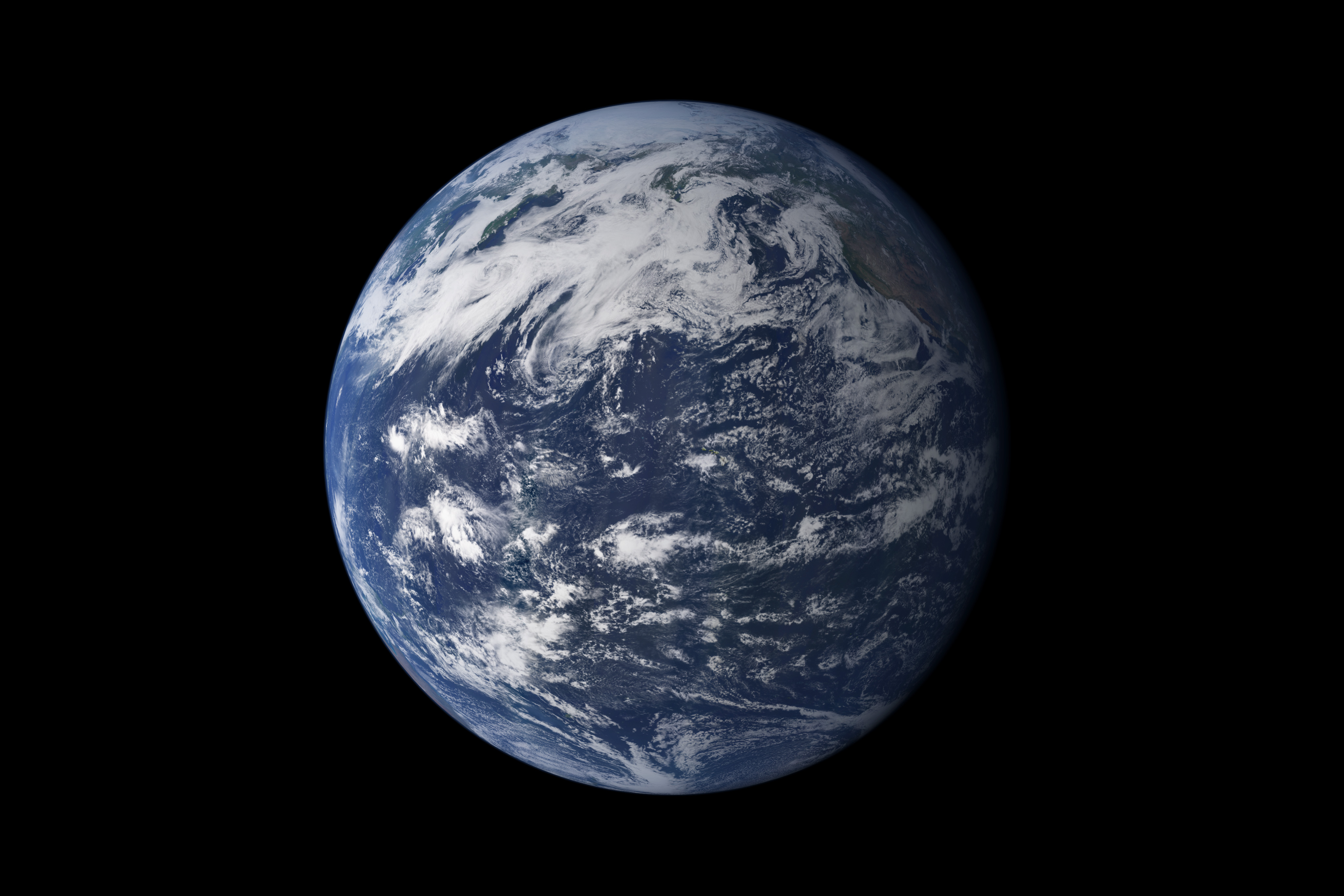 The Water Planet | NASA image acquired July 10, 2005 ...