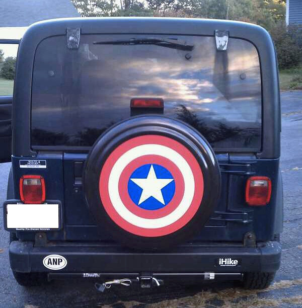New Captain America Jeep spare wheel cover   Flickr ...