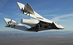 VSS Enterprise glides fantastically back towards Mojave Space Port. Photo by Mark Greenberg