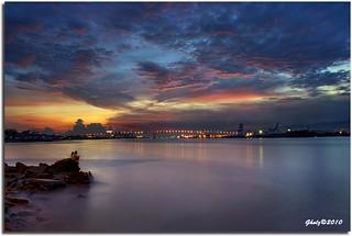 Two hearts. One hope. One dream. The First Mactan - Mandaue Bridge @ dusk.