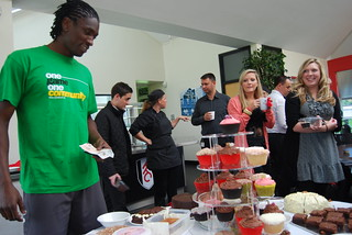 Fulham FC coffee morning with Dickson Etuhu