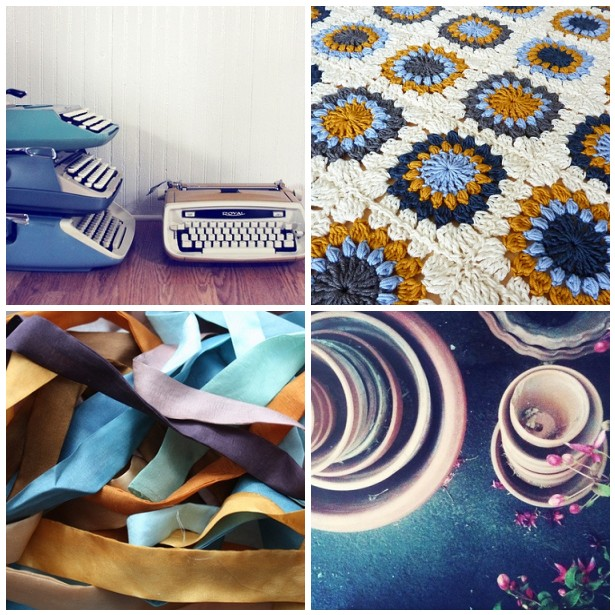 colour palette : turquoise & tan curated by Emma Lamb