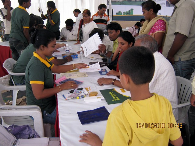 Property buyers at Vastushodh's UrbanGram on Saturday Morning, October 16, 2010