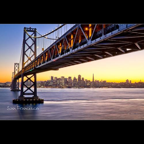 sanfrancisco california city bridge sunset usa lens landscape cityscape fav20 baybridge dominique olivier 2010 fav10 palombieri mygallery1