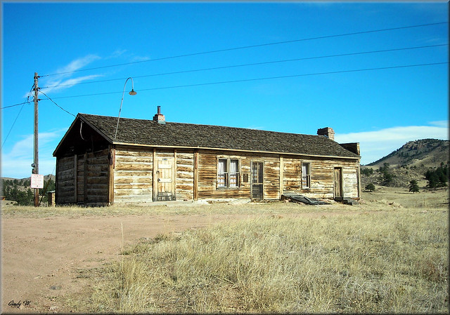 Overland Trail Stage Station (front view), Virginia Dale, CO