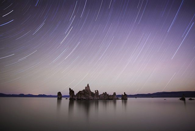 Mono Lake Star Trails