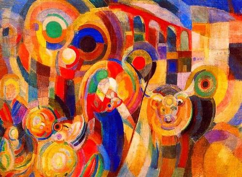 Delaunay-Terk, Sonia (1885-1979) - 1915 Market at Minho by RasMarley
