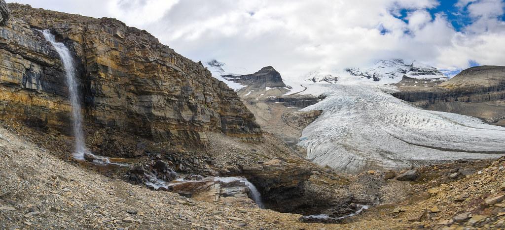 Robson Glacier Waterfall