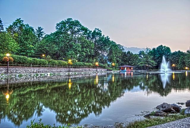 Wheeling Park Fountain HDR