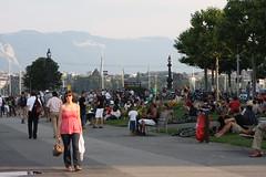 Genfersee Ufer am Abend 2010-07-01