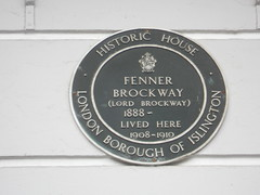 Photo of Fenner Brockway green plaque