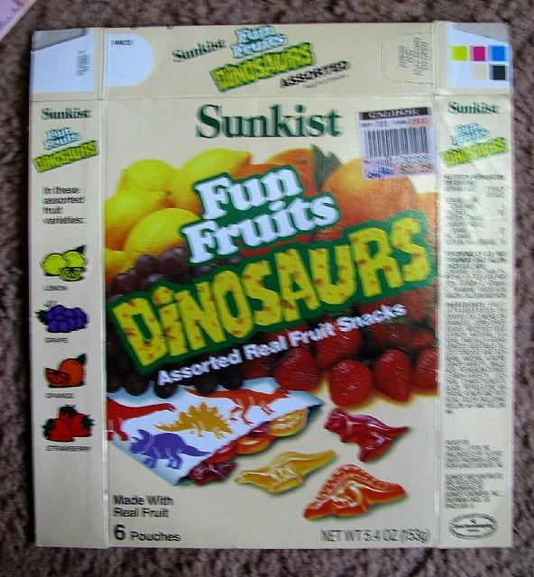 fruits list dinosaur fruit snacks