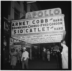 [View of the Apollo Theatre marquee, New York, N.Y., between 1946 and 1948] (LOC)