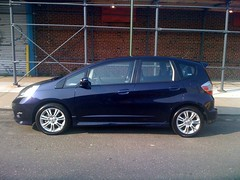 automobile, automotive exterior, vehicle, compact car, honda fit, land vehicle,